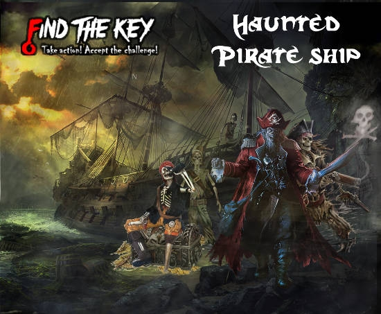 Escape Game Haunted Pirate Ship, Find The Key. Montreal.