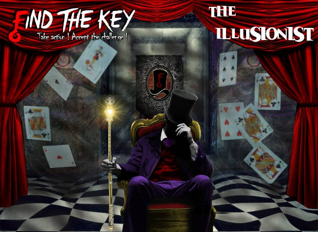 Escape Game The Illusionist, Find The Key. Montreal.